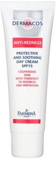 Farmona Dermacos Anti-Redness crema de día protectora y calmante  SPF 15