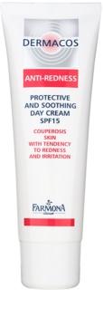 Farmona Dermacos Anti-Redness schützende und beruhigende Tagescreme LSF 15
