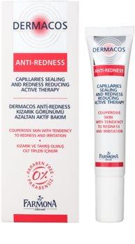 Farmona Dermacos Anti-Redness aktivizáló géles szérum a hajszálerek megerősítésére és azok elpattanásának elkerülésére