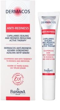 Farmona Dermacos Anti-Redness aktywne serum żelowe wzmacniające drobne żyłki, zapobiegające ich pękaniu