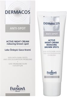 Farmona Dermacos Anti-Spot crème de nuit active pour réduire les taches pigmentaires