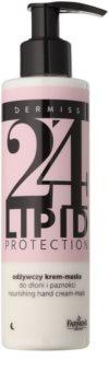 Farmona Dermiss Lipid Protection creme-máscara de noite nutritivo para mãos e unhas