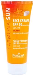 Farmona Sun захисний крем для жирної та комбінованої шкіри SPF 50