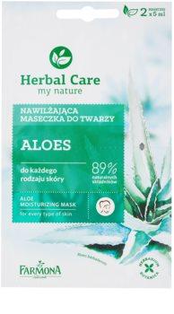 Farmona Herbal Care Aloe masque hydratant pour tous types de peau