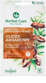 Farmona Herbal Care Argan Oil tápláló maszk száraz és nagyon száraz bőrre