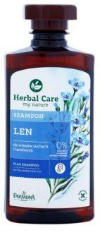 Farmona Herbal Care Flax Seed sampon száraz és törékeny hajra
