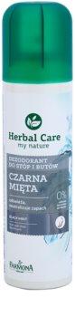 Farmona Herbal Care Black Mint desodorizante em spray para pés e sapatos