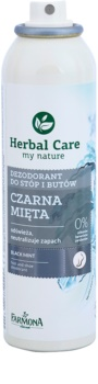 Farmona Herbal Care Black Mint dezodorant v spreji na nohy a do topánok