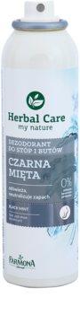 Farmona Herbal Care Black Mint антиперспірант-спрей спрей для ніг та взуття