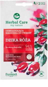 Farmona Herbal Care Wild Rose mascarilla rejuvenecedora para pieles maduras
