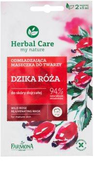 Farmona Herbal Care Wild Rose omlazující maska pro zralou pleť
