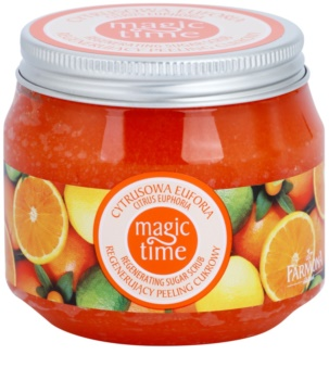 Farmona Magic Time Citrus Euphoria telový peeling s cukrom pre regeneráciu pokožky