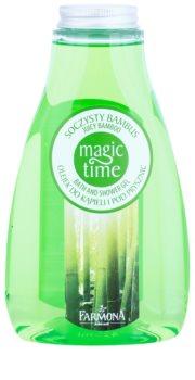 Farmona Magic Time Juicy Bamboo gel de dus si baie cu efect de nutritiv