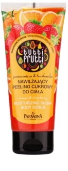 Farmona Tutti Frutti Orange & Strawberry Exfoliant hidratant din zahar pentru corp