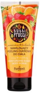 Farmona Tutti Frutti Orange & Strawberry feuchtigkeitsspendendes Zuckerpeeling für den Körper