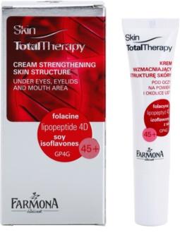 Farmona Skin Total Therapy crème raffermissante anti-rides profondes yeux et lèvres