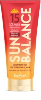 Farmona Sun Balance lapte de corp pentru soare rezistent la apa SPF15