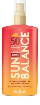 Farmona Sun Balance védő naptej az egész családnak SPF50