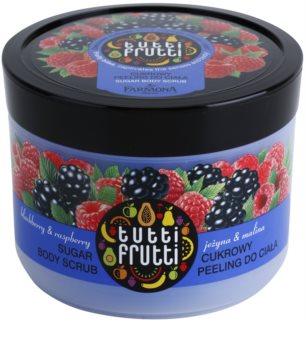 Farmona Tutti Frutti Blackberry & Raspberry peeling de açúcar para corpo