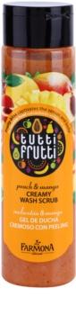 Farmona Tutti Frutti Peach & Mango Creme-Peeling für die Dusche
