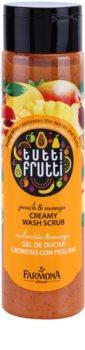 Farmona Tutti Frutti Peach & Mango krémes fürdőpeeling