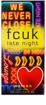 Fcuk Late Night Her Eau de Toilette voor Vrouwen  100 ml