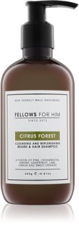 Fellows for Him Citrus Forest Beard and Hair Shampoo