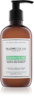 Fellows for Him Coconut & Lime Skägg- och hårschampo
