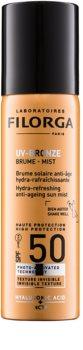 Filorga Medi-Cosmetique UV Bronze beschermende hydraterende en verfrissende nevel tegen tekenen van huidveroudering SPF50
