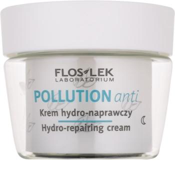 FlosLek Laboratorium Pollution Anti crema de noche hidratante con efecto regenerador