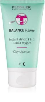 FlosLek Laboratorium Balance T-Zone čistiaca emulzia a maska pre zmiešanú pleť