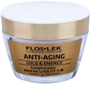 FlosLek Laboratorium Anti-Aging Gold & Energy energizujący krem na dzień SPF 15