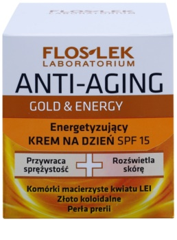 FlosLek Laboratorium Anti-Aging Gold & Energy energizující denní krém SPF15