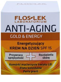 FlosLek Laboratorium Anti-Aging Gold & Energy stärkende Tagescreme LSF 15