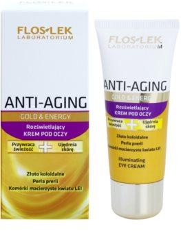 FlosLek Laboratorium Anti-Aging Gold & Energy aufhellende Crem für die Augenpartien