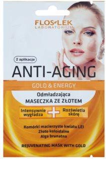 FlosLek Laboratorium Anti-Aging Gold & Energy omladzujúca maska so zlatom