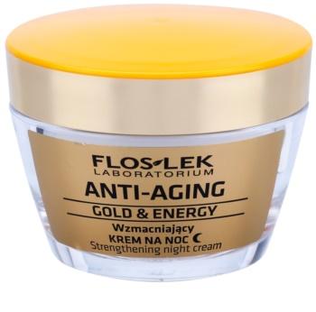 FlosLek Laboratorium Anti-Aging Gold & Energy wzmacniający krem na noc