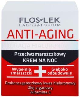 FlosLek Laboratorium Anti-Aging Hyaluronic Therapy Feuchtigkeitsspendende Nachtcreme mit Antifalten-Effekt