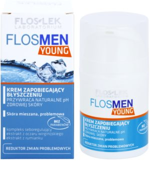 FlosLek Laboratorium FlosMen Young krém proti lesknutí pleti a rozšířeným pórům