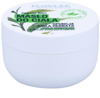 FlosLek Laboratorium Natural Body Prickly Pear & White Tea regenerační tělové máslo s hydratačním účinkem