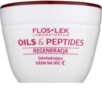 FlosLek Laboratorium Oils & Peptides Regeneration 60+ crème de nuit régénérante effet rajeunissant
