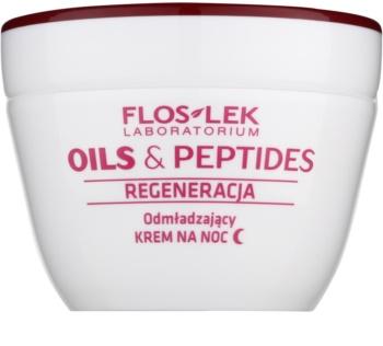 FlosLek Laboratorium Oils & Peptides Regeneration 60+ regeneračný nočný krém s omladzujúcim účinkom