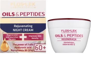 FlosLek Laboratorium Oils & Peptides Regeneration 60+ nočna regeneracijska krema s pomlajevalnim učinkom