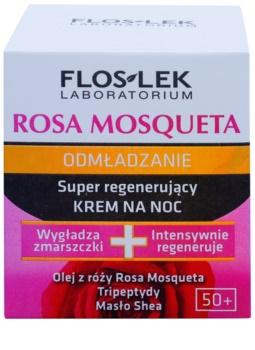 FlosLek Laboratorium Rosa Mosqueta Rejuvenation 50+ crème de nuit intense pour la régénération de la peau