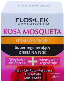 FlosLek Laboratorium Rosa Mosqueta Rejuvenation 50+ інтенсивний нічний крем для відновлення шкіри