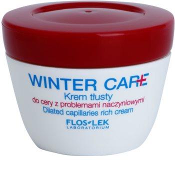 FlosLek Laboratorium Winter Care bogata zaščitna krema za občutljivo kožo, nagnjeno k rdečici