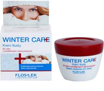 FlosLek Laboratorium Winter Care bohatý ochranný krém pre citlivú pleť so sklonom k začervenaniu