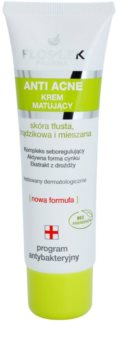 FlosLek Pharma Anti Acne zmatňujúci krém pre pleť s nedokonalosťami