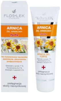 FlosLek Pharma Arnica Forte pomirjajoči gel za kožo nagnjeno k rdečici