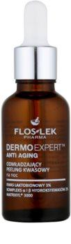 FlosLek Pharma DermoExpert Acid Peel pomlajevalna nočna nega z eksfoliacijskim učinkom